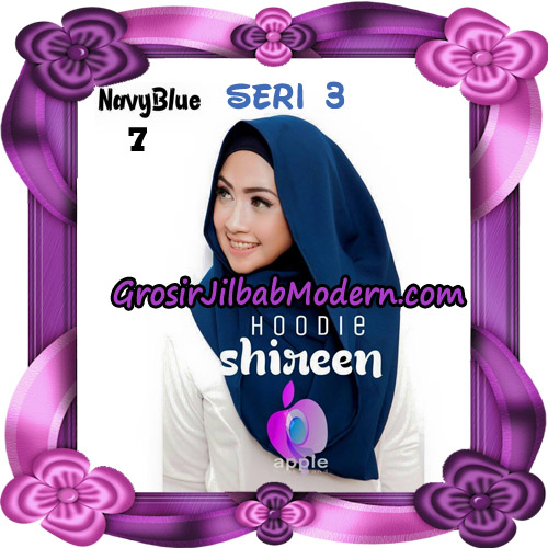 Jilbab Instant Modis Shireen Hoodie Seri 3 Original By Apple Hijab Brand No 7 Navy Blue