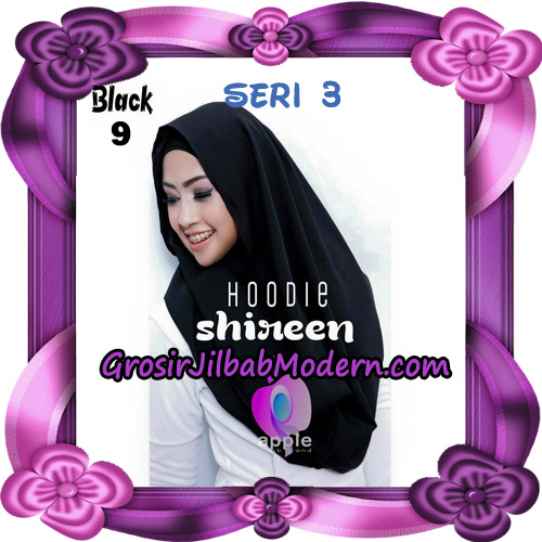 Jilbab Instant Modis Shireen Hoodie Seri 3 Original By Apple Hijab Brand No 9 Black