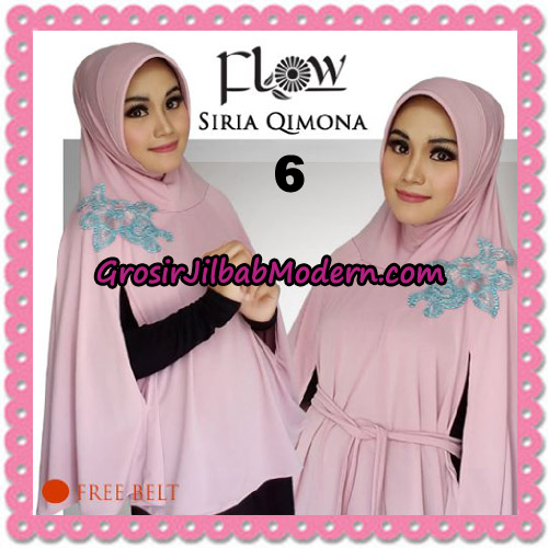 Jilbab Instant Modis Syria Qimora Trendy Original By Flow Idea Brand No 6 Soft Pink