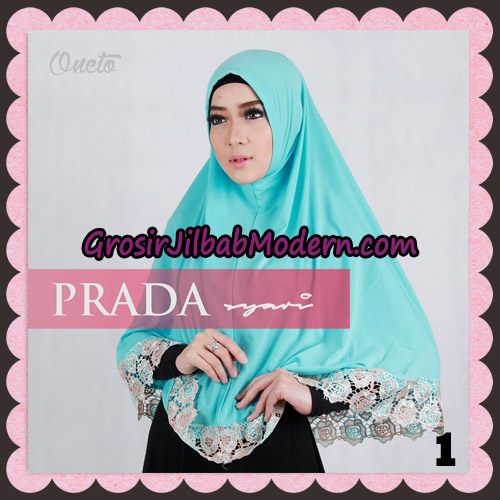 Jilbab Instant Prada Jumbo Syar'i Mawar Support By Oneto Hijab No 1