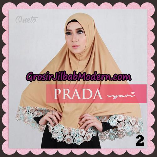 Jilbab Instant Prada Jumbo Syar'i Mawar Support By Oneto Hijab No 2