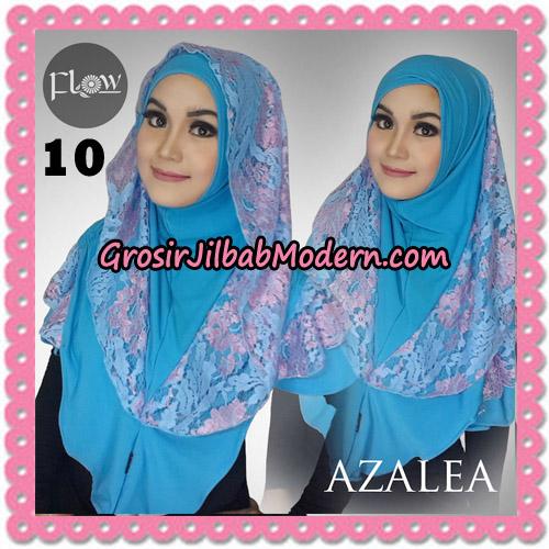 Jilbab Instant Trendy Cantik Syria Azalea Original By Flow Idea Brand No 10 Biru