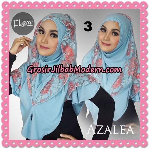 Jilbab Instant Trendy Cantik Syria Azalea Original By Flow Idea Brand No 3 Baby Blue