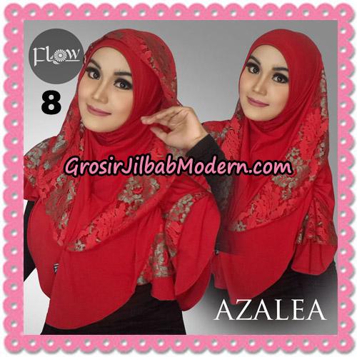 Jilbab Instant Trendy Cantik Syria Azalea Original By Flow Idea Brand No 8 Merah