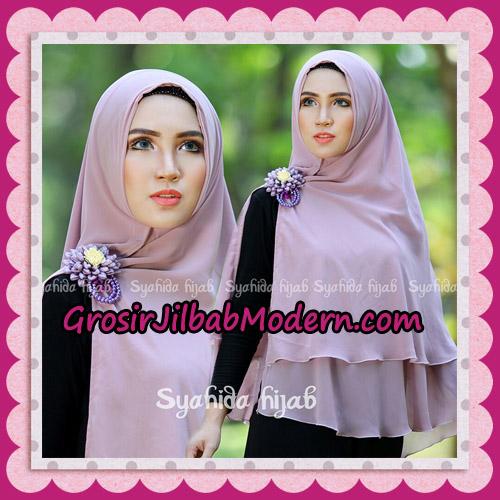 Jilbab Khimar Syar'i Atika Non Pet Original By Syahida Hijab Brand - Ungu Muda