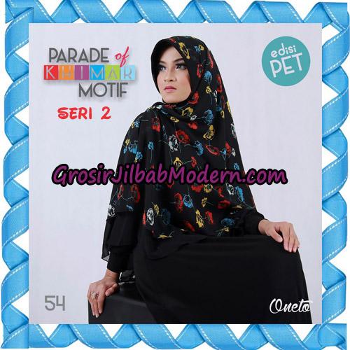 Jilbab Parade Of Khimar Motif Kombinasi Polos Pet Seri 2 Support By Oneto Hijab No 54