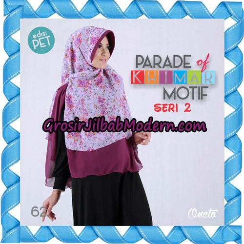Jilbab Parade Of Khimar Motif Kombinasi Polos Pet Seri 2 Support By Oneto Hijab No 62