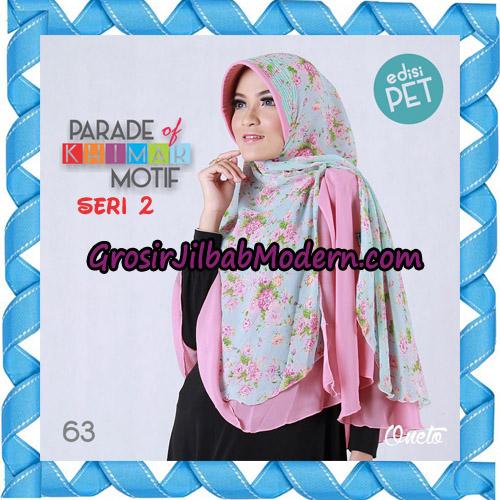 Jilbab Parade Of Khimar Motif Kombinasi Polos Pet Seri 2 Support By Oneto Hijab No 63