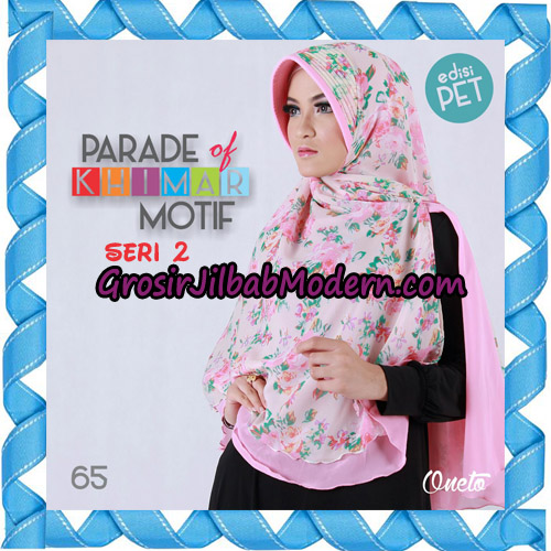 Jilbab Parade Of Khimar Motif Kombinasi Polos Pet Seri 2 Support By Oneto Hijab No 65