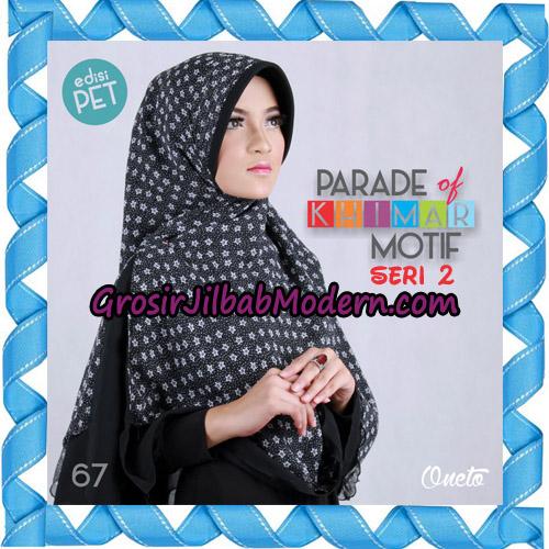 Jilbab Parade Of Khimar Motif Kombinasi Polos Pet Seri 2 Support By Oneto Hijab No 67