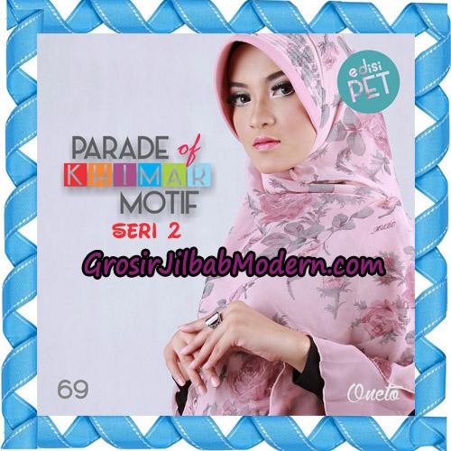 Jilbab Parade Of Khimar Motif Kombinasi Polos Pet Seri 2 Support By Oneto Hijab No 69