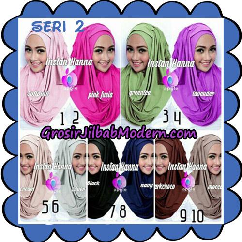 Jilbab Pashmina Instant New Hanna Seri 2 Original By Apple Hijab Brand Series