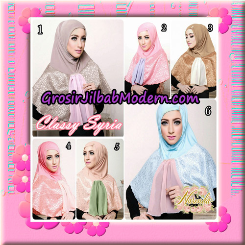 Jilbab Simple Modis Syria Classy Original By Narinda Hijab Brand Series