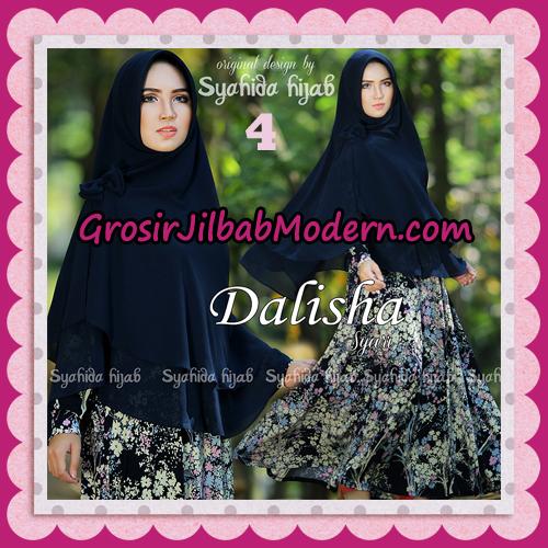 Setelan Busana Muslim Modis Dan Syar'i Gamis Dalisha Original By Syahida Hijab Brand No 4 Navy