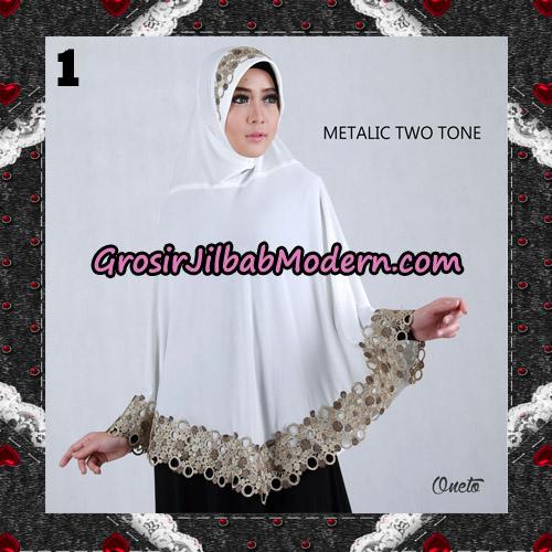 Jilbab Bergo Metalic Two Tone Support By Oneto Hijab No 1