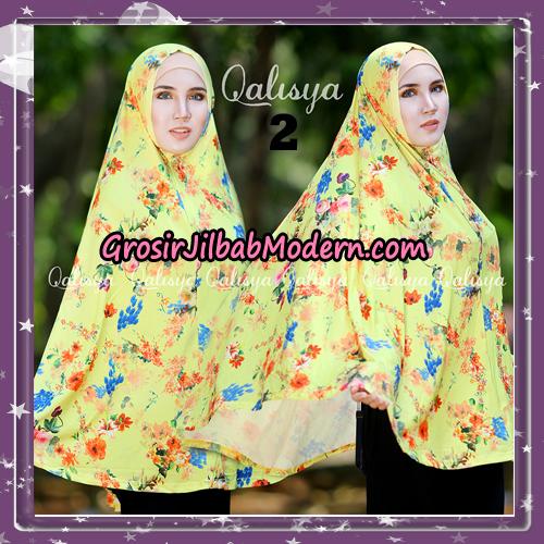 Jilbab Cantik Basic Khimar Motif Original by Qalisya Brand No 2