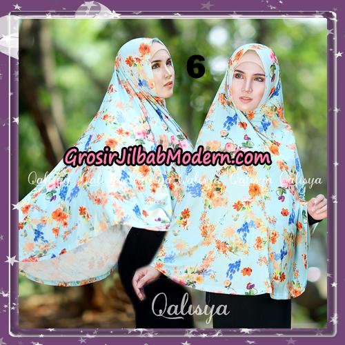 Jilbab Cantik Basic Khimar Motif Original by Qalisya Brand No 6