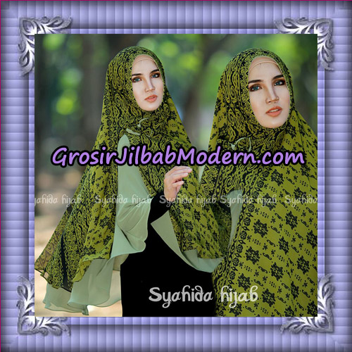 Jilbab Cerutti Non Pet Khimar Tenun Original By Syahida Hijab Brand - Hijau no 9