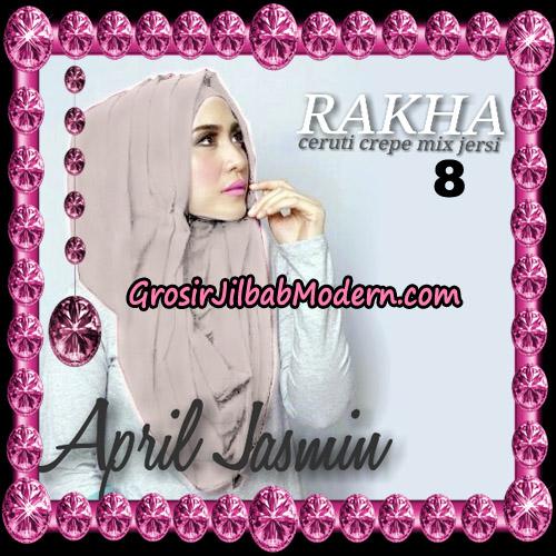 Jilbab Hoodie Instant Cantik Ala April Jasmine Original By Rakha Hijab Brand NO 8