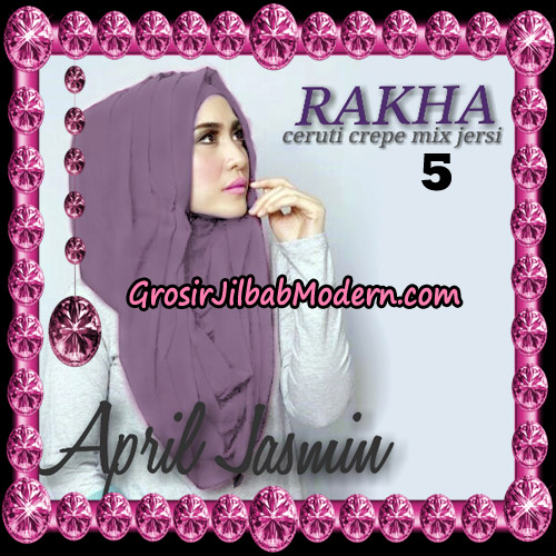 Jilbab Hoodie Instant Cantik Ala April Jasmine Original By Rakha Hijab Brand No 5