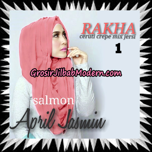 Jilbab Hoodie Instant Cantik Ala April Jasmine Seri 2 Original By Rakha Brand No 1 Salmon