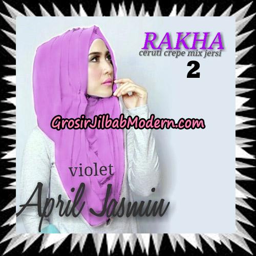 Jilbab Hoodie Instant Cantik Ala April Jasmine Seri 2 Original By Rakha Brand No 2 Violet