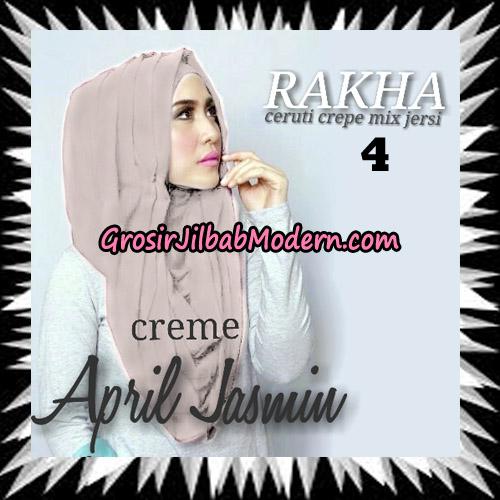 Jilbab Hoodie Instant Cantik Ala April Jasmine Seri 2 Original By Rakha Brand No 4 Creme