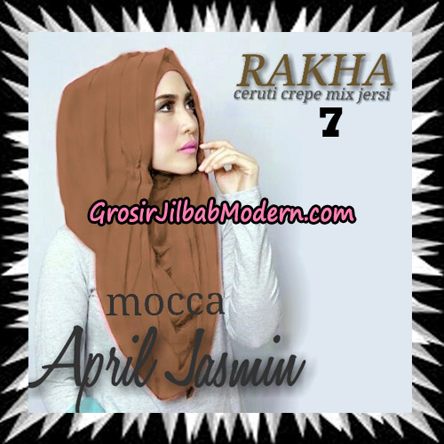Jilbab Hoodie Instant Cantik Ala April Jasmine Seri 2 Original By Rakha Brand No 7 Mocca