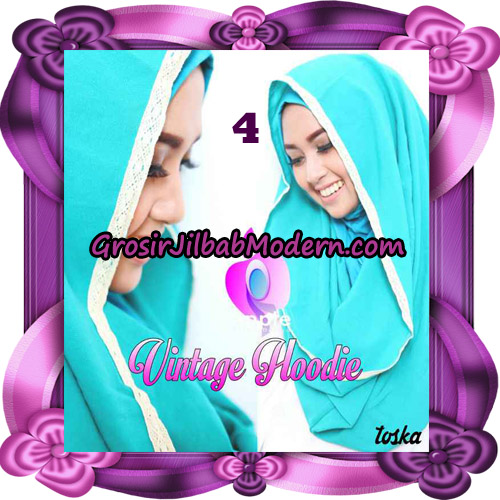 Jilbab Instant Hoodie Vintage Modis Original By Apple Hijab Brand No 4 Toska