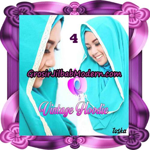 Jilbab Instant Hoodie Vintage Modis Original By Apple Hijab Brand No 4 Toska