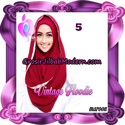 Jilbab Instant Hoodie Vintage Modis Original By Apple Hijab Brand No 5 Marun