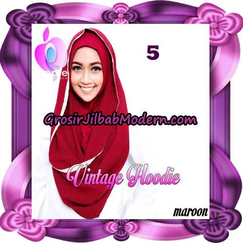 Jilbab Instant Hoodie Vintage Modis Original By Apple Hijab Brand No 5 Marun
