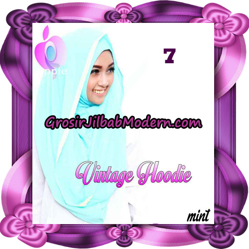 Jilbab Instant Hoodie Vintage Modis Original By Apple Hijab Brand No 7 - Mint