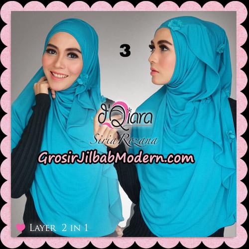 Jilbab Instant Syria Rozana Original By d'Qiara Hijab Brand No 3 Biru Tosca