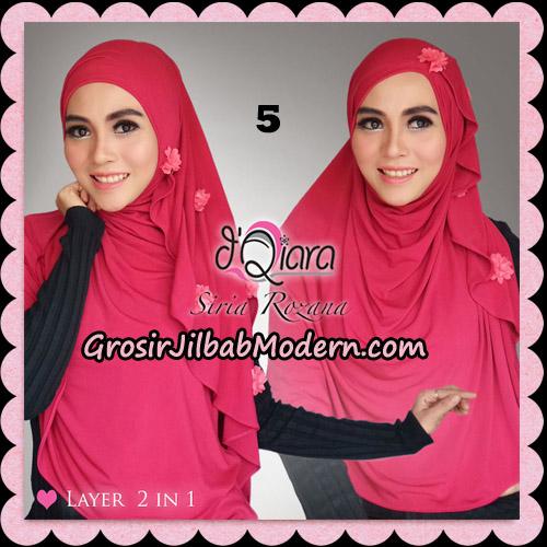Jilbab Instant Syria Rozana Original By d'Qiara Hijab Brand No 5 Fusia