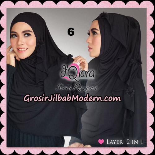 Jilbab Instant Syria Rozana Original By d'Qiara Hijab Brand No 6 Hitam
