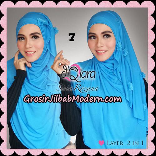 Jilbab Instant Syria Rozana Original By d'Qiara Hijab Brand No 7 Biru