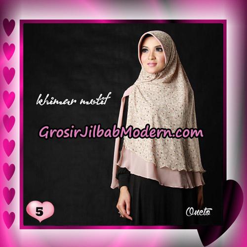Jilbab Khimar Motif Kombinasi Polos Pet Seri 1 Support By Oneto Hijab No 5