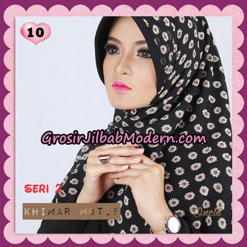Jilbab Khimar Motif Pet Seri 2 Cantik Support By Oneto Hijab No 10