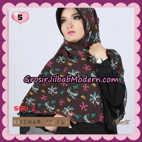 Jilbab Khimar Motif Pet Seri 2 Cantik Support By Oneto Hijab No 5