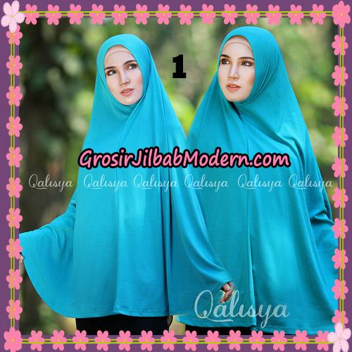 Jilbab Polos Basic Khimar Jersey Jeruk Original by Qalisya Brand No 1 Toska Tua
