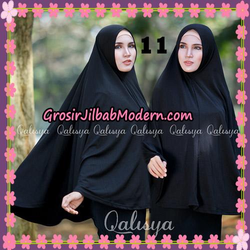 Jilbab Polos Basic Khimar Jersey Jeruk Original by Qalisya Brand No 11 Hitam