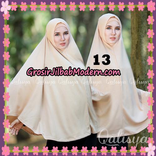 Jilbab Polos Basic Khimar Jersey Jeruk Original by Qalisya Brand No 13 Milo Muda
