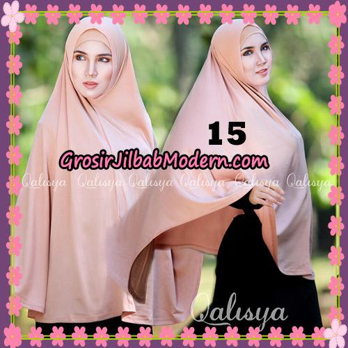 Jilbab Polos Basic Khimar Jersey Jeruk Original by Qalisya Brand No 15 Peach Tua