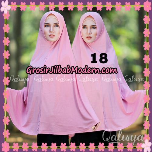 Jilbab Polos Basic Khimar Jersey Jeruk Original by Qalisya Brand No 18 Pink