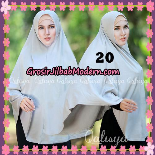 Jilbab Polos Basic Khimar Jersey Jeruk Original by Qalisya Brand No 20 Abu Asap
