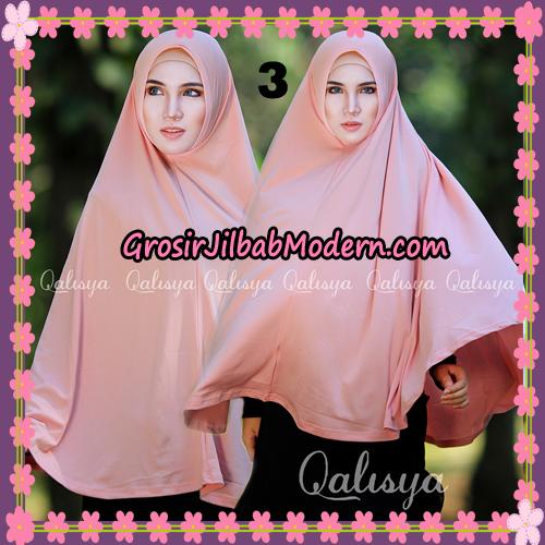 Jilbab Polos Basic Khimar Jersey Jeruk Original by Qalisya Brand No 3 Salem Tua