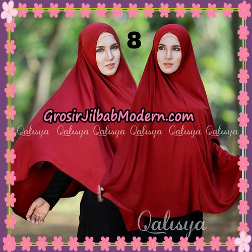 Jilbab Polos Basic Khimar Jersey Jeruk Original by Qalisya Brand No 8 Marun