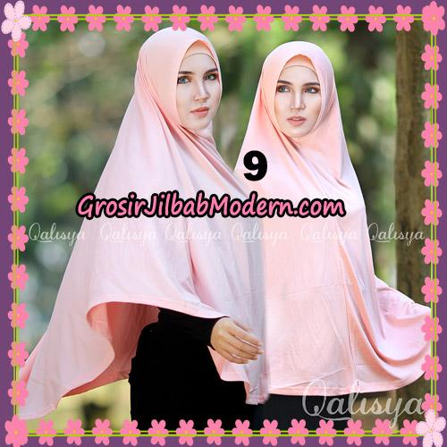 Jilbab Polos Basic Khimar Jersey Jeruk Original by Qalisya Brand No 9 Peach Muda