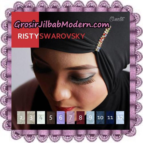 Inner Jilbab Kerut Risty Swarovsky Support By Oneto Hijab